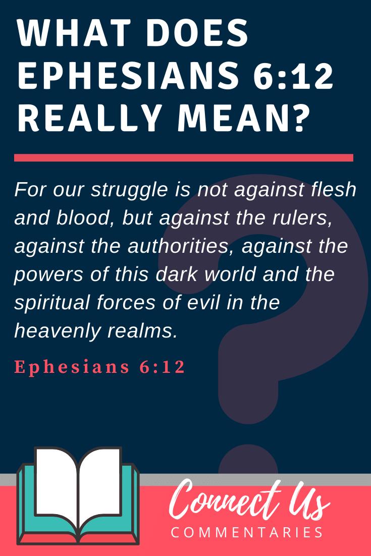 Ephesians 6:12 Meaning