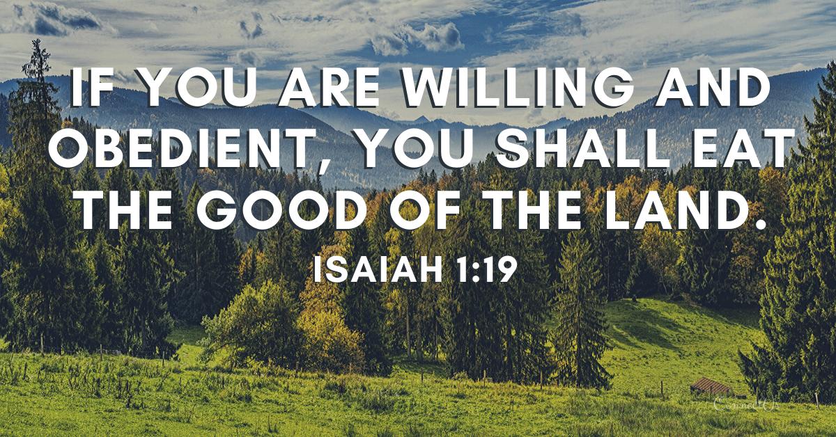 Isaiah 1:19