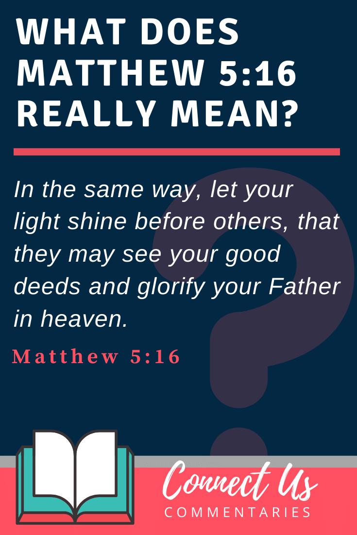 Matthew 5:16 Meaning