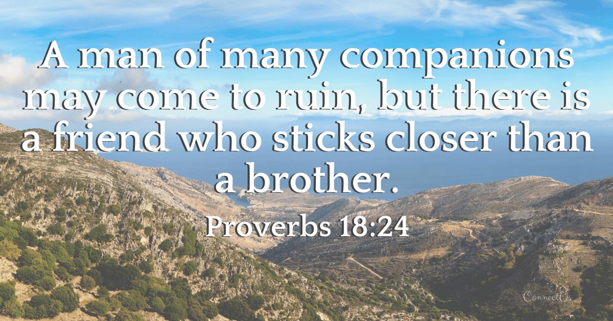 Proverbs 18:24