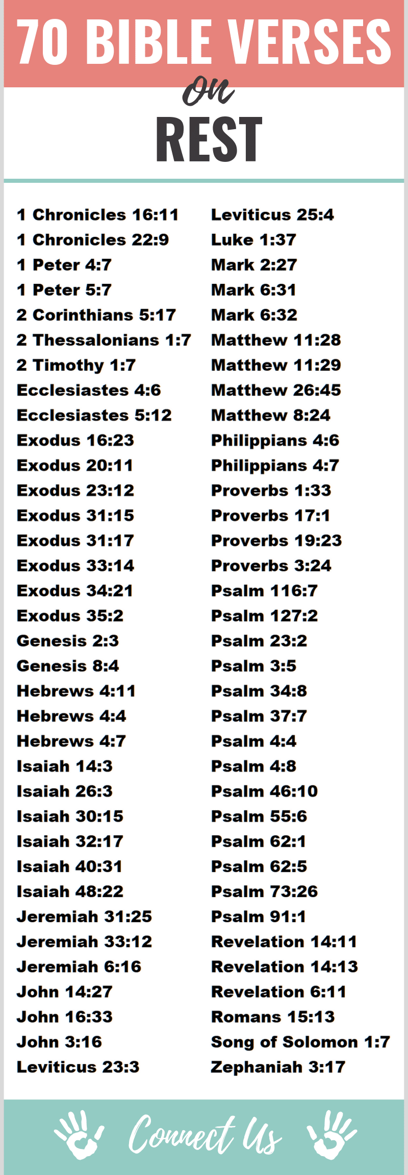 Bible Verses on Rest
