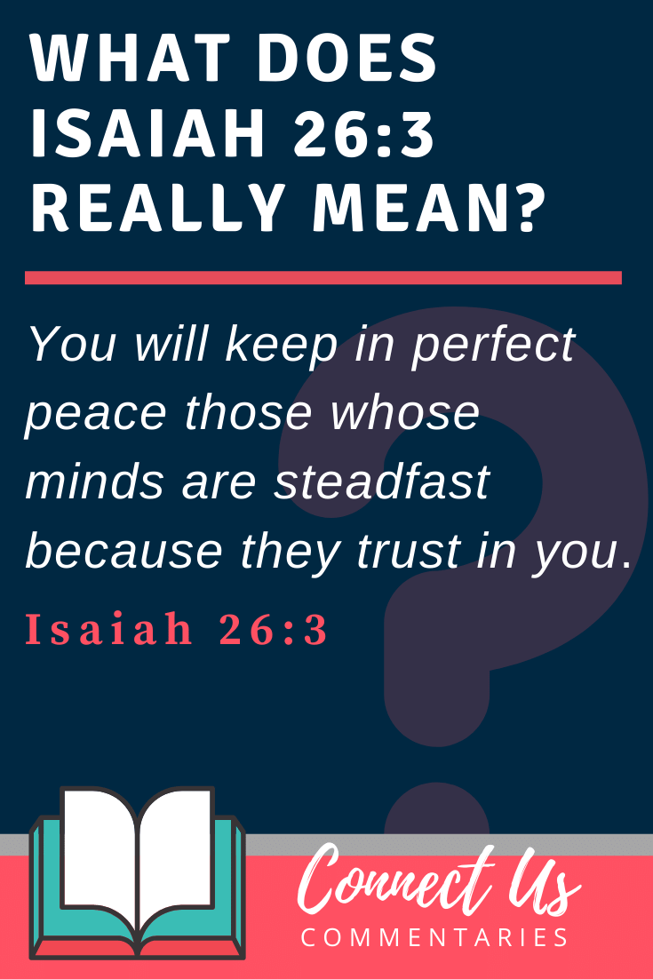 Isaiah 26:3 Meaning