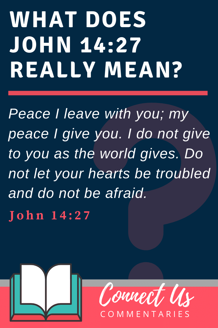 John 14:27 Meaning