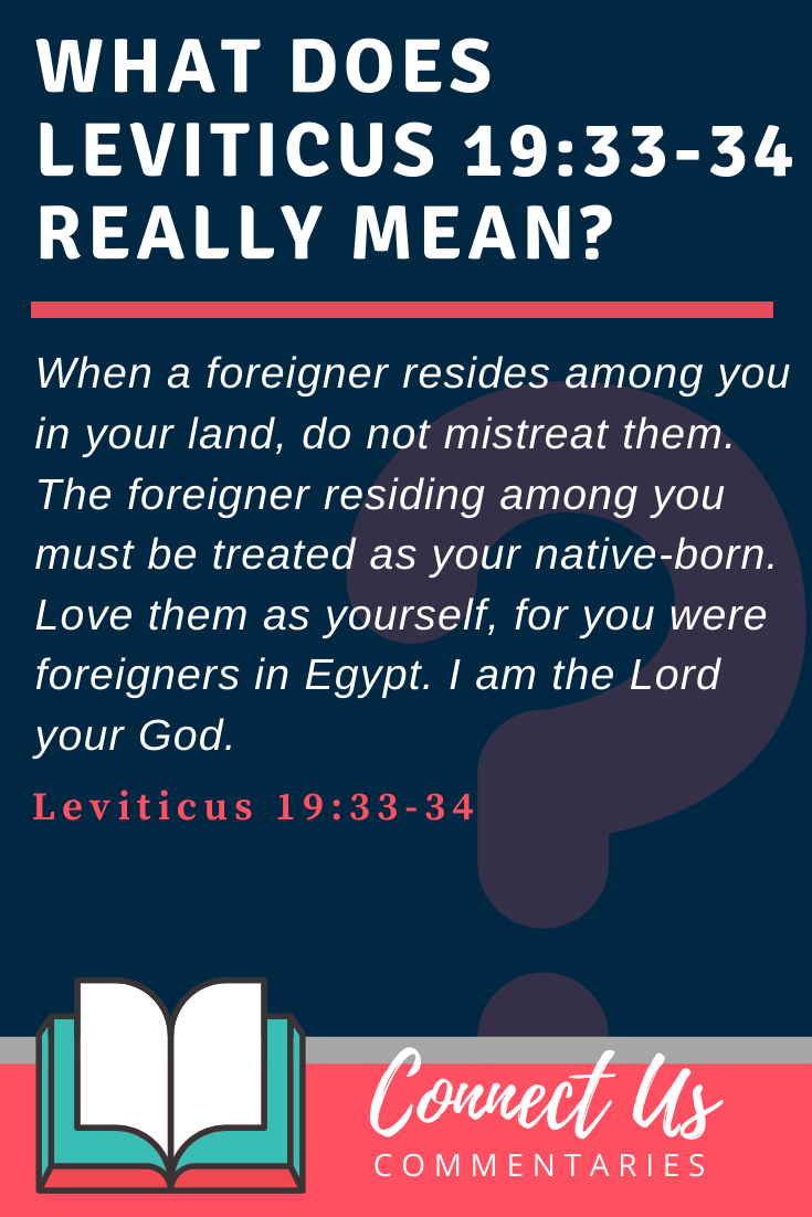 Leviticus 19:33-34 Meaning