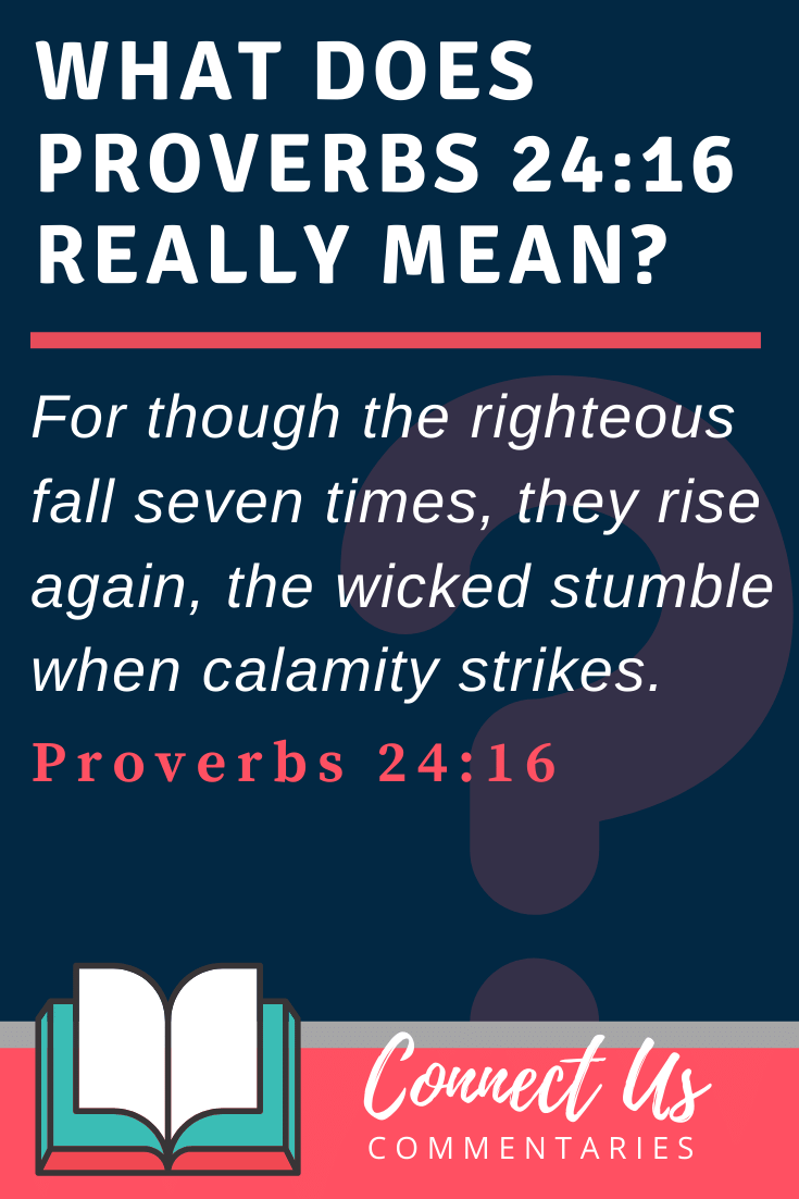 Proverbs 24:16 Meaning