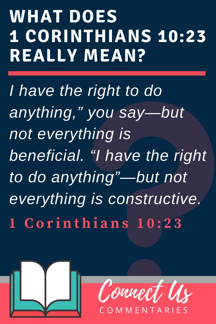 1 Corinthians 10:23 Meaning