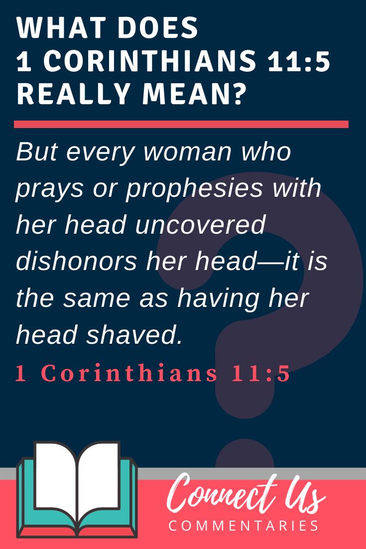 1 Corinthians 11:5 Meaning