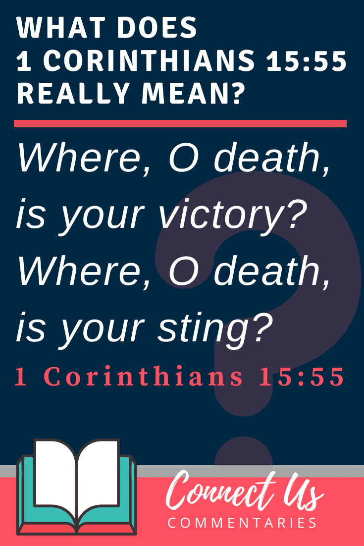 1 Corinthians 15:55 Meaning and Commentary