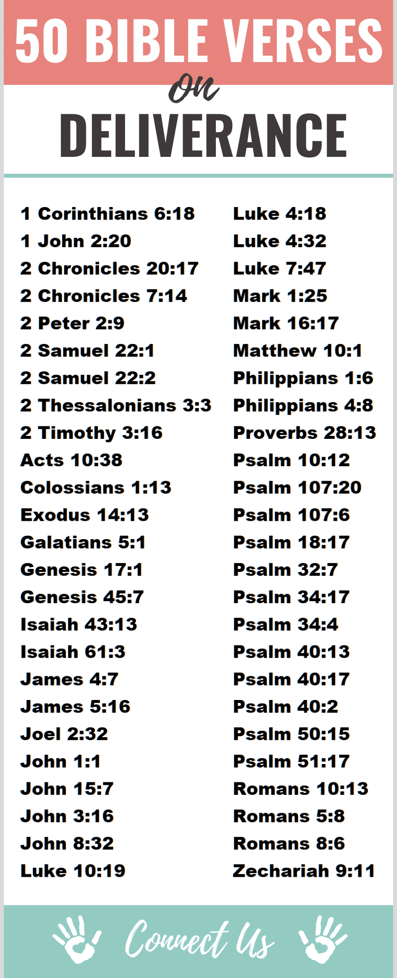 50 Mighty Bible Scriptures on Deliverance – ConnectUS