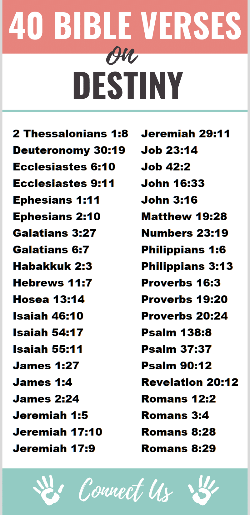 Bible Verses on Destiny