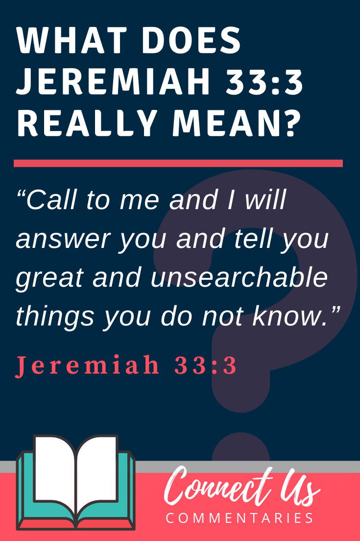 Jeremiah 33:3 Meaning