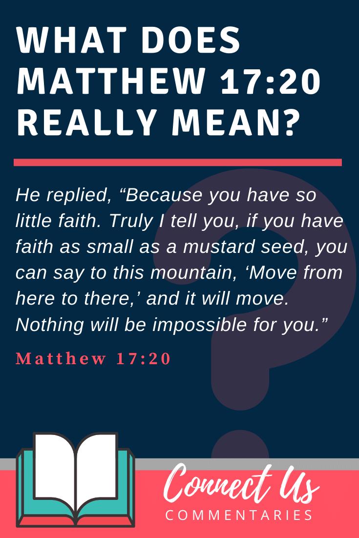 Matthew 17:20 Meaning
