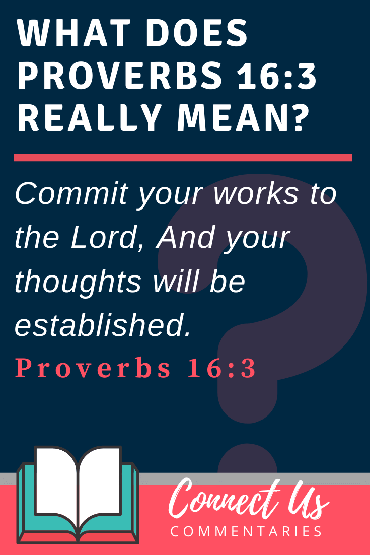 Proverbs 16:3 Meaning