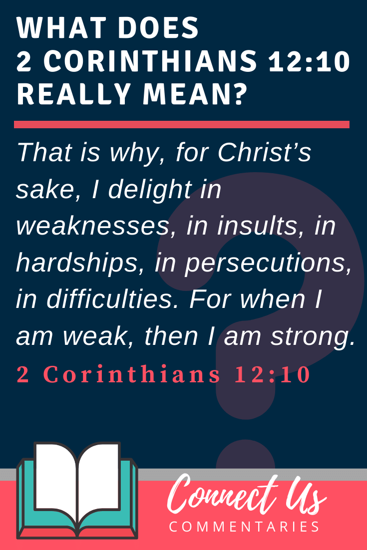 2 Corinthians 12:10 Meaning and Commentary