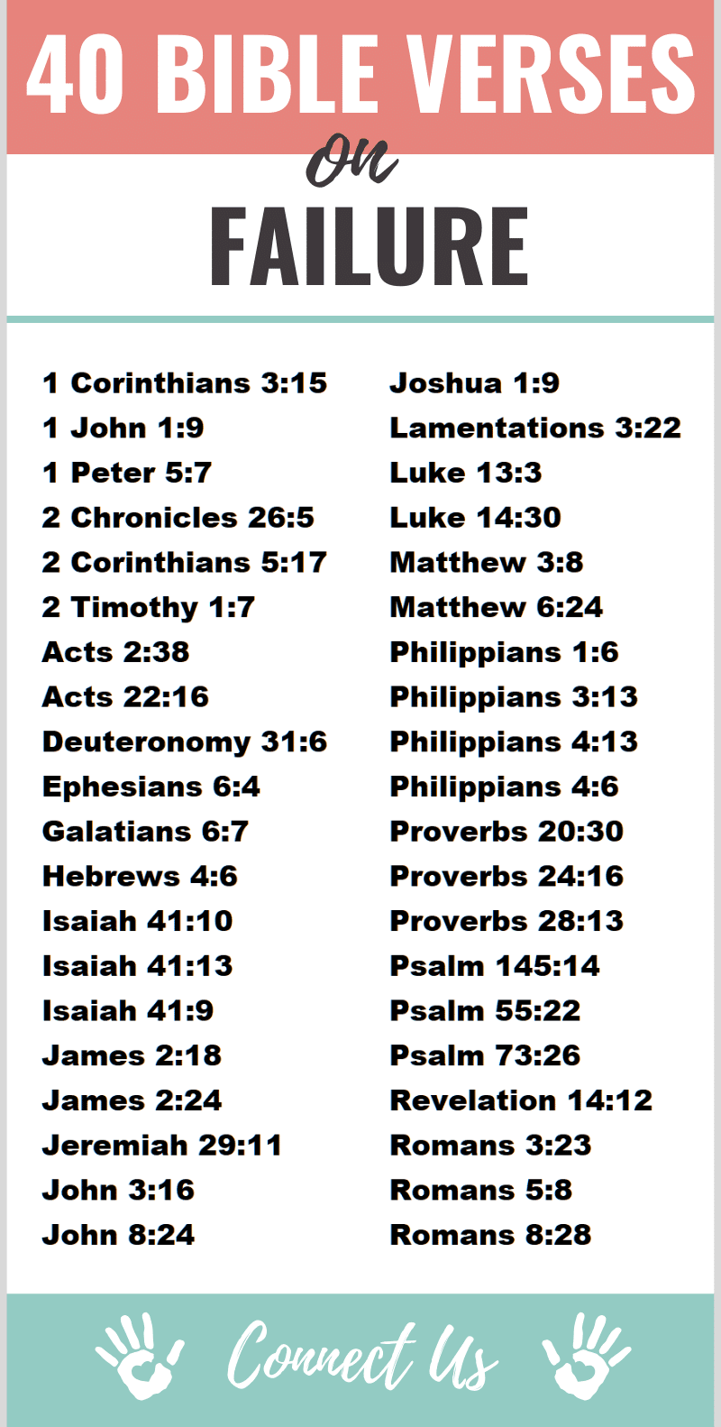 Bible Verses on Failure