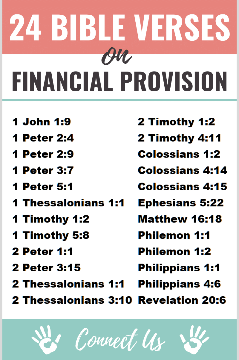 Bible Verses on Financial Provision