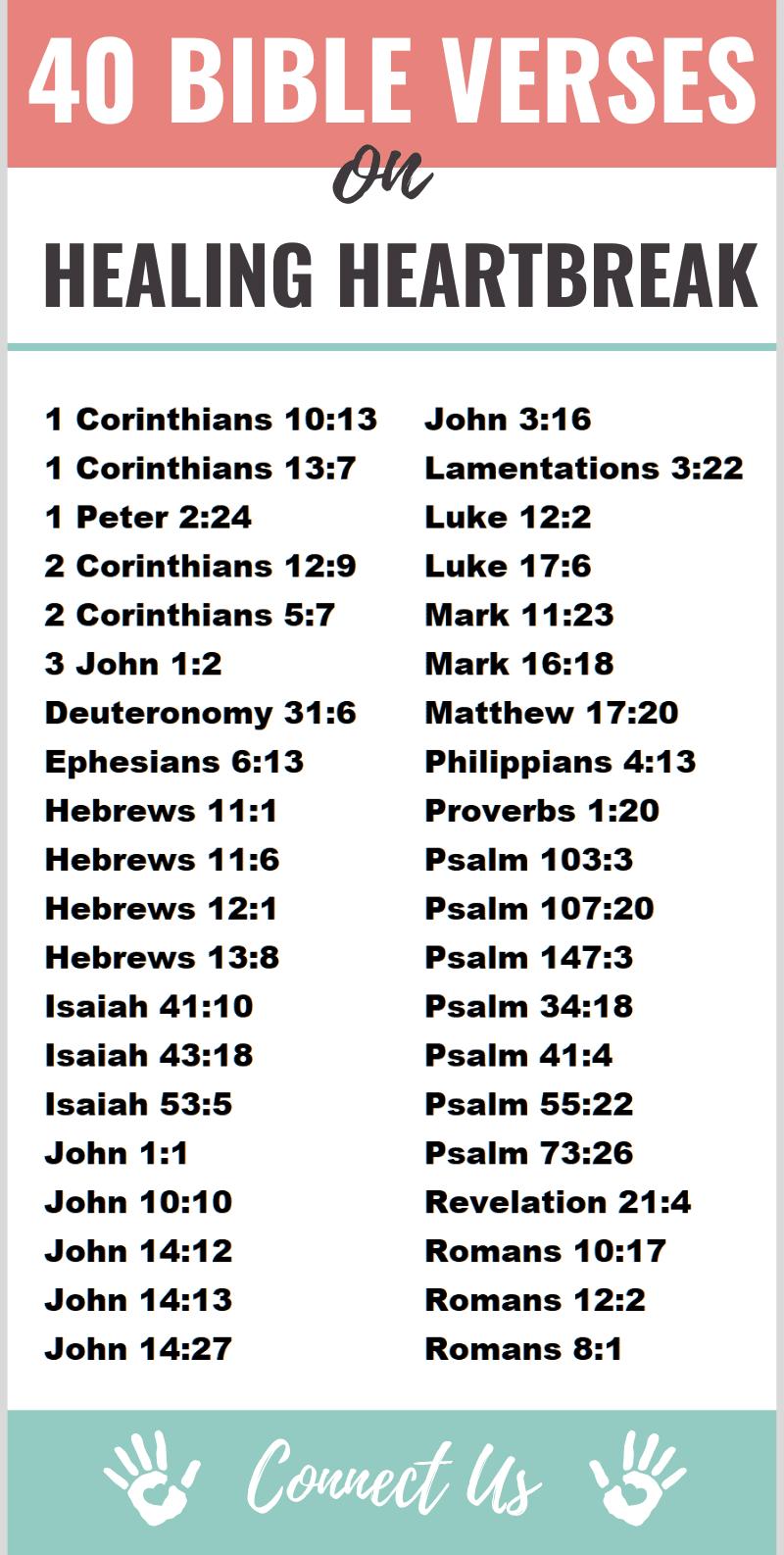 Bible Verses on Healing a Broken Heart