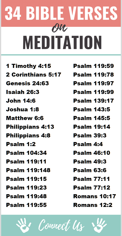 Bible Verses on Meditation