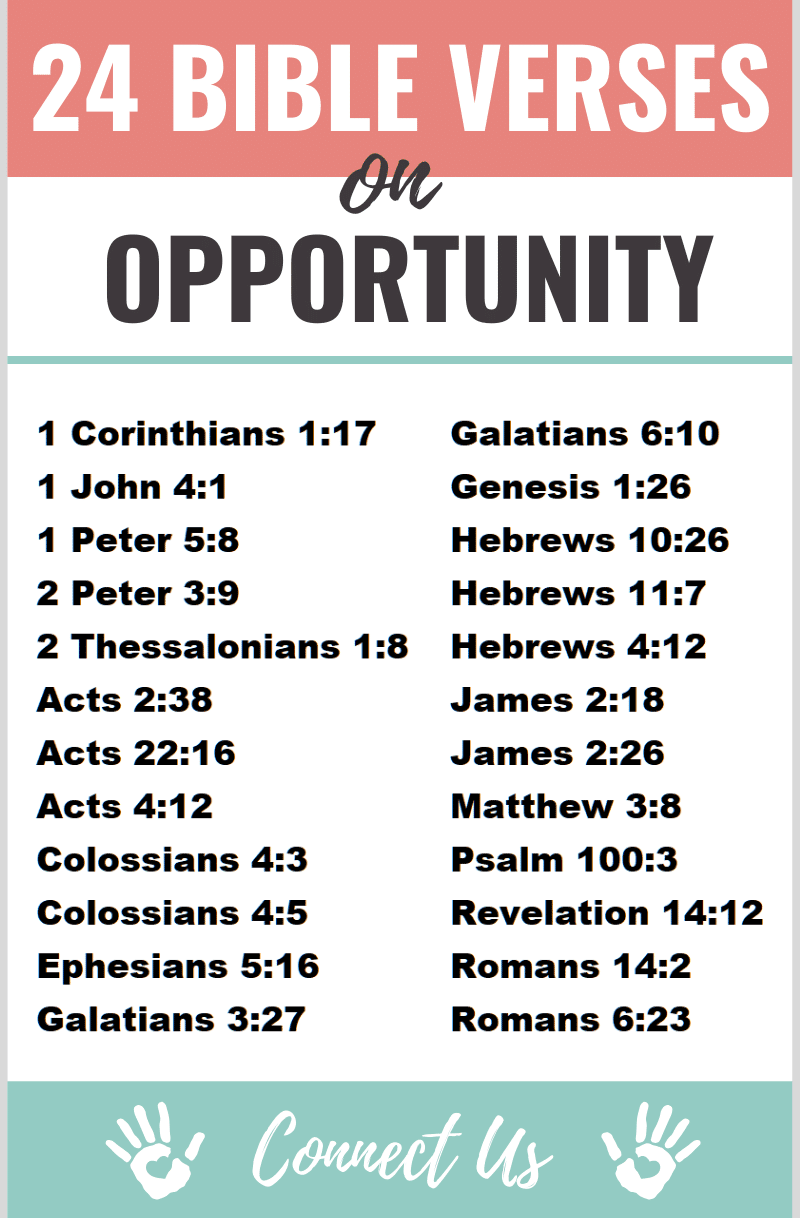 Bible Verses on Opportunity