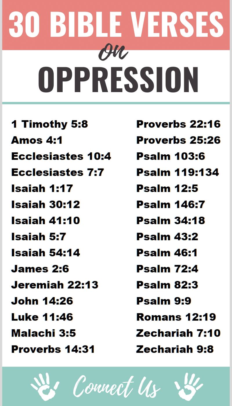 Bible Verses on Oppression