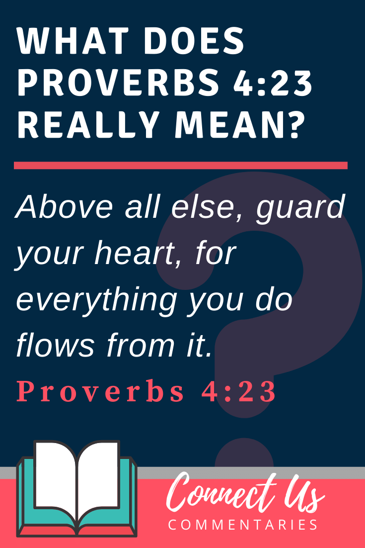 Proverbs 4:23 Meaning and Commentary