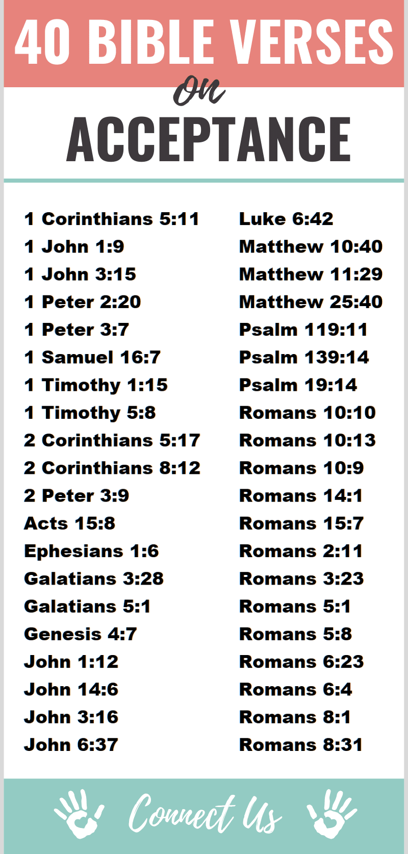 Bible Verses on Acceptance