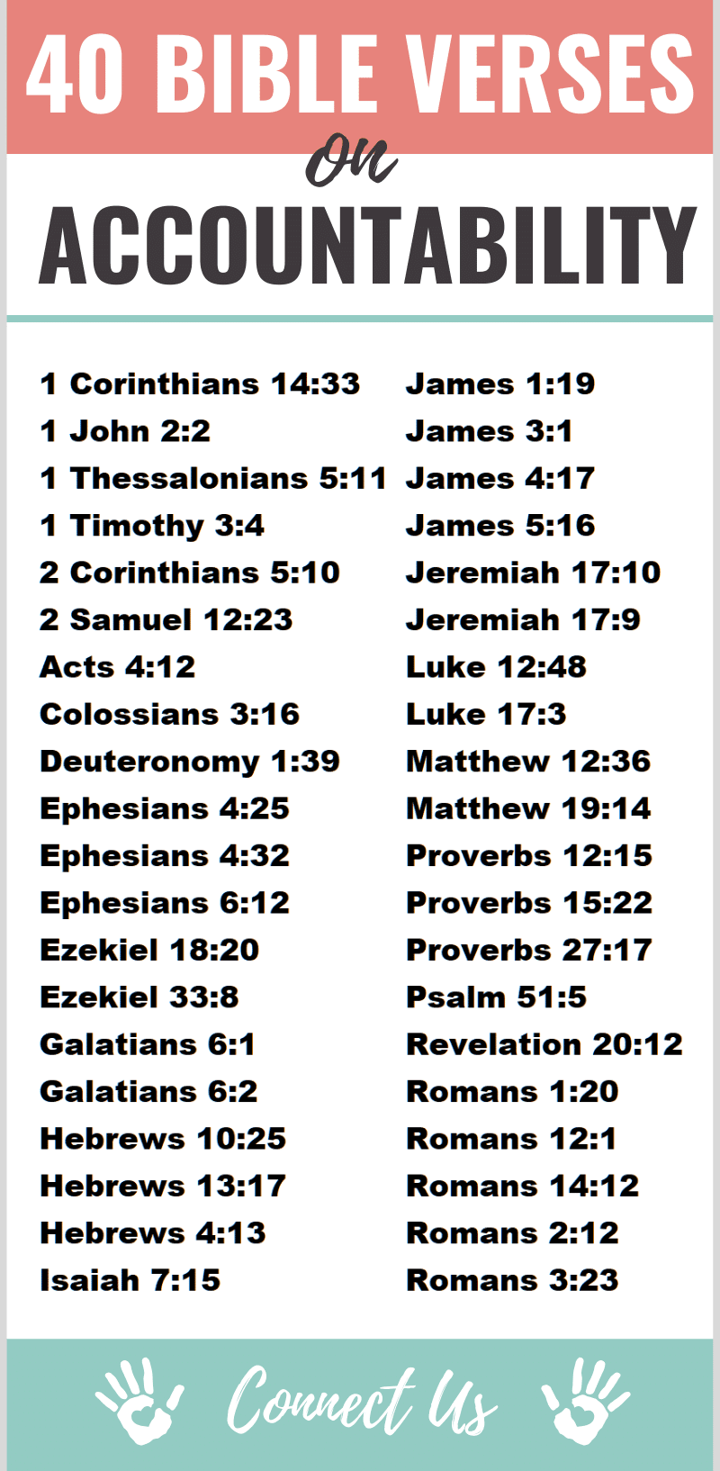 Bible Verses on Accountability