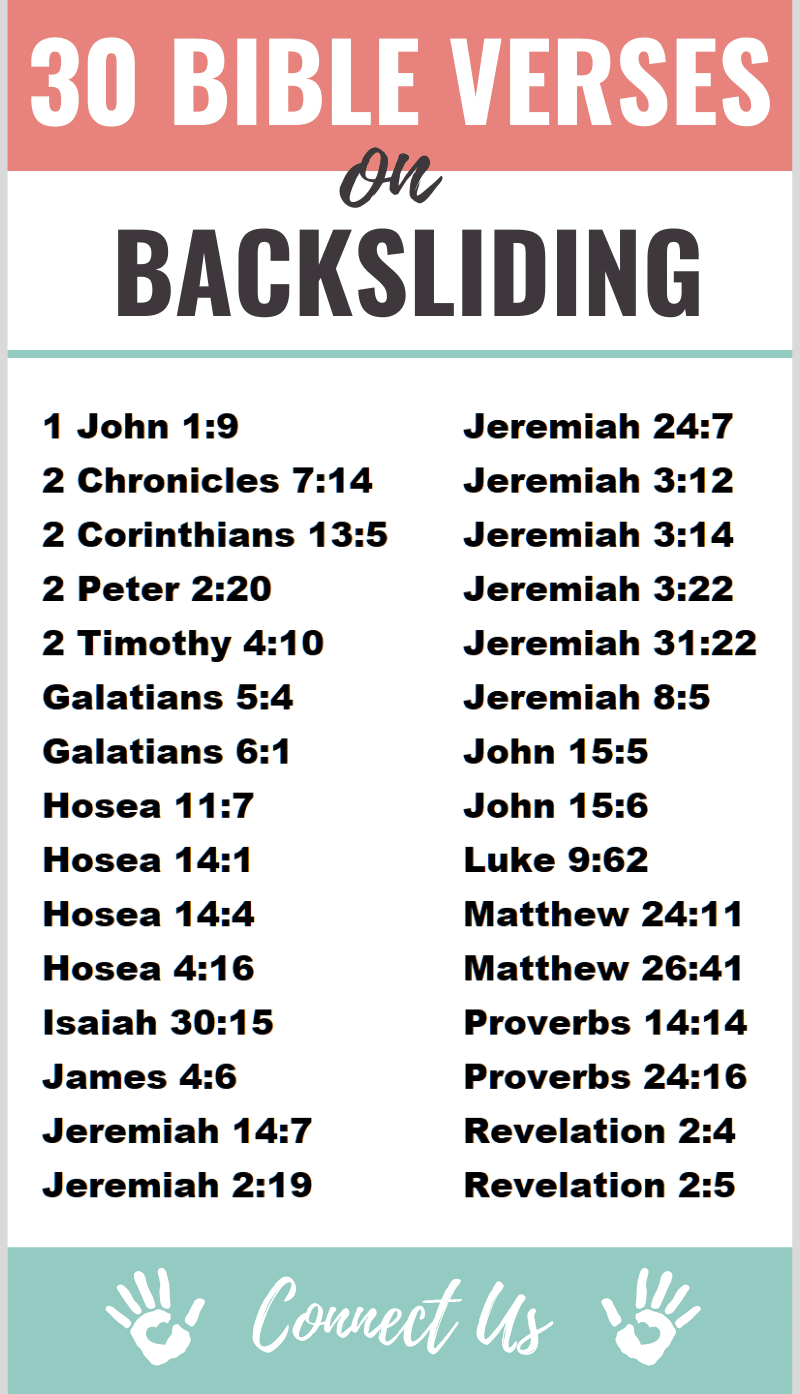 Bible Verses on Backsliding