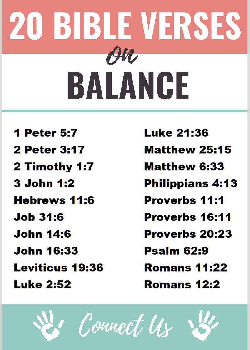 Bible Verses on Balance