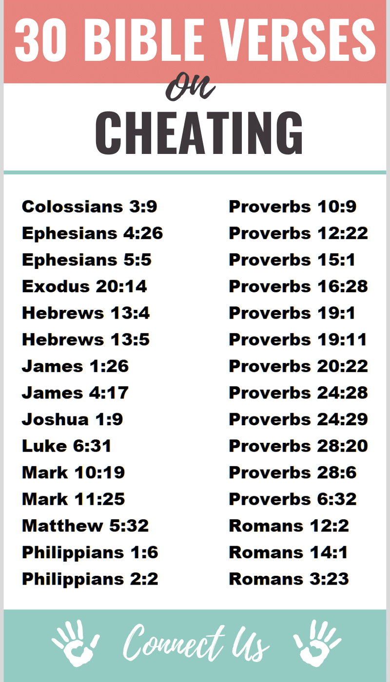 Bible Verses on Cheating
