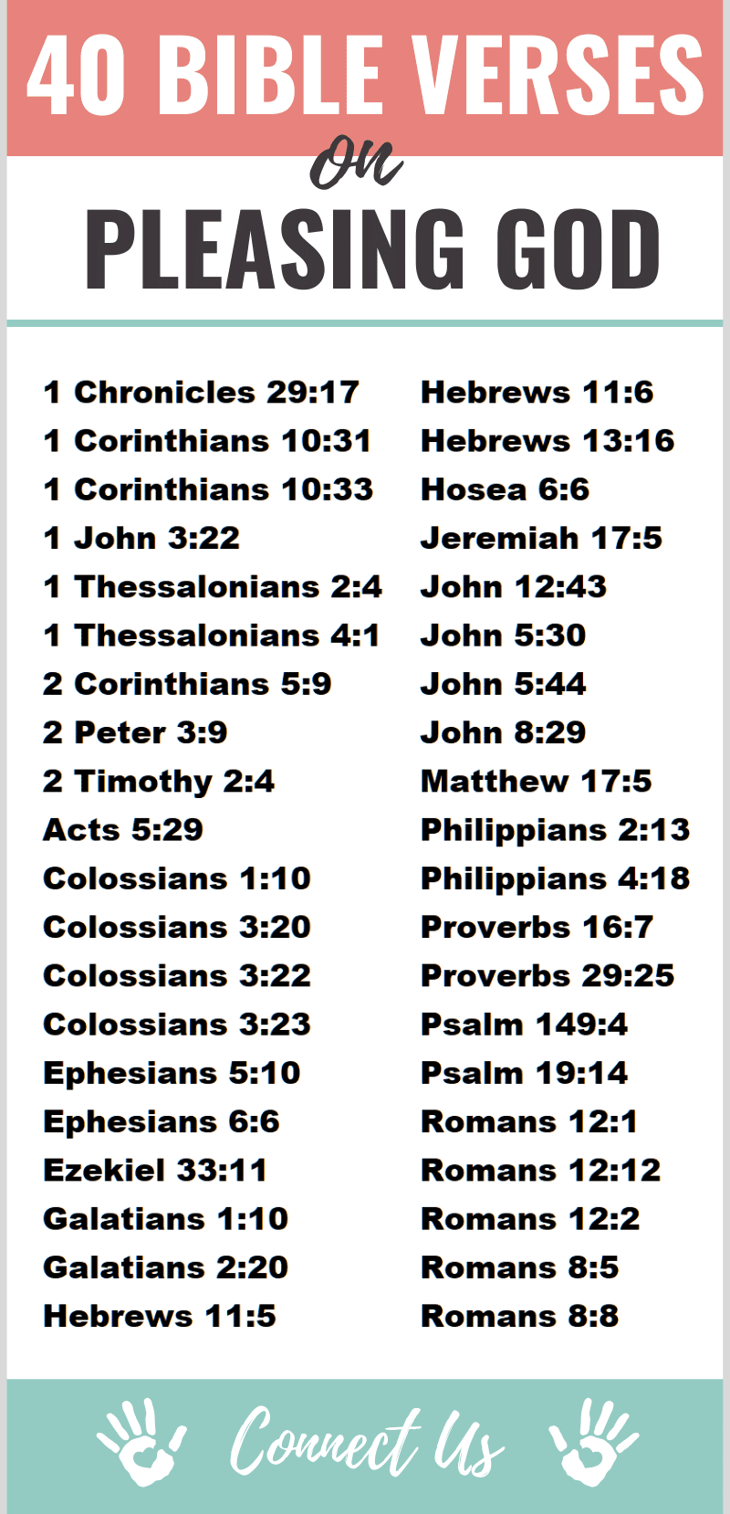 Bible Verses on Pleasing God