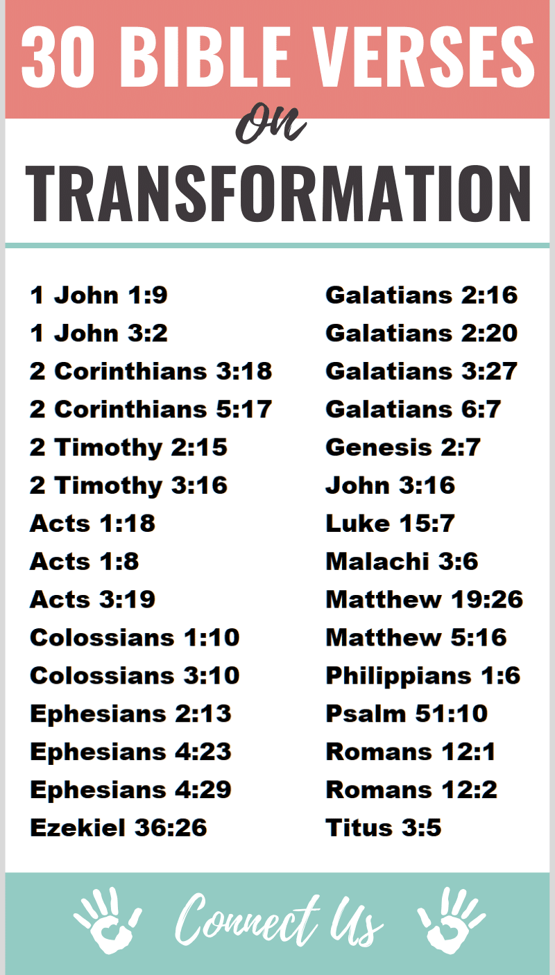 Bible Verses on Transformation