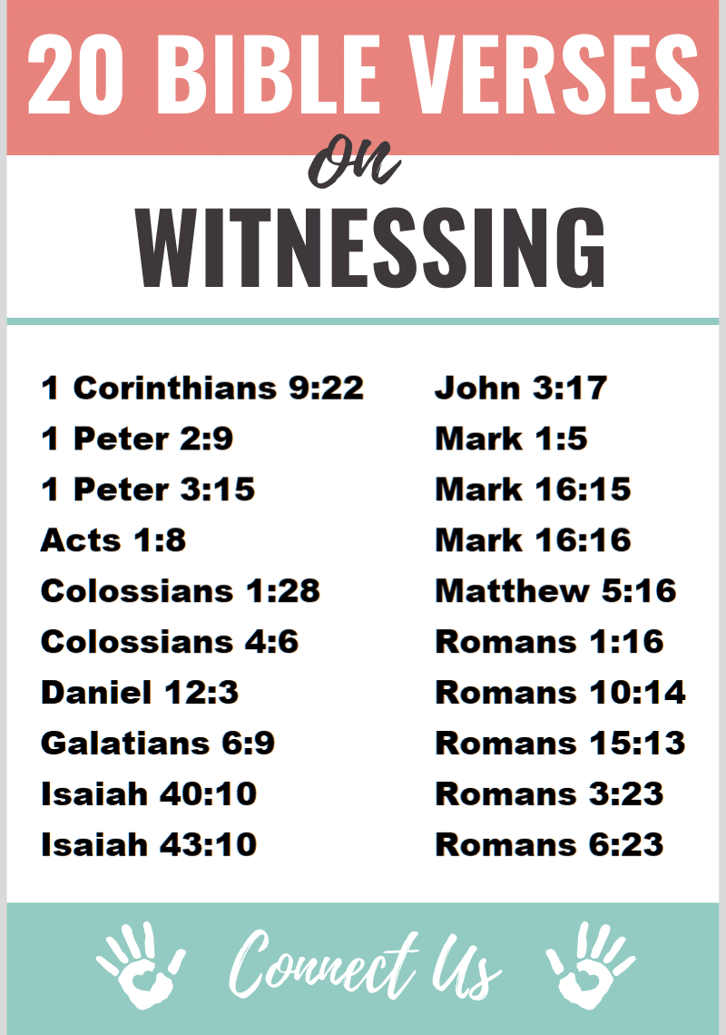 Bible Verses on Witnessing