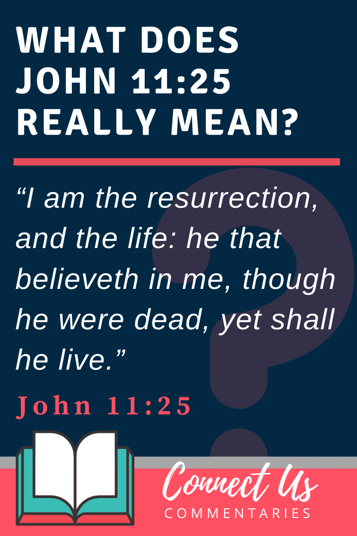 John 11:25 Meaning and Commentary