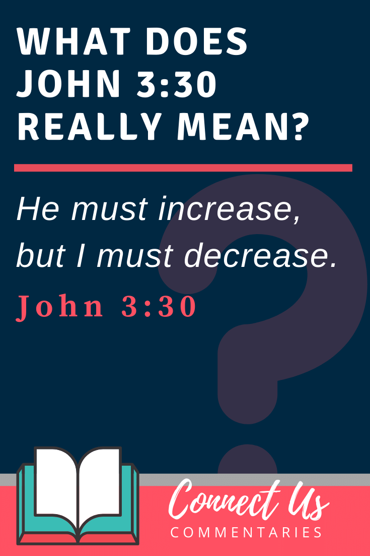 John 3:30 Meaning and Commentary