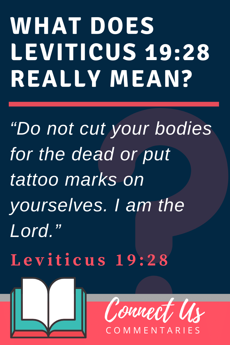 Leviticus 19:28 Meaning and Commentary