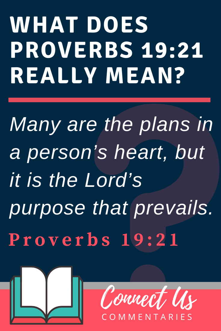 Proverbs 19:21 Meaning and Commentary