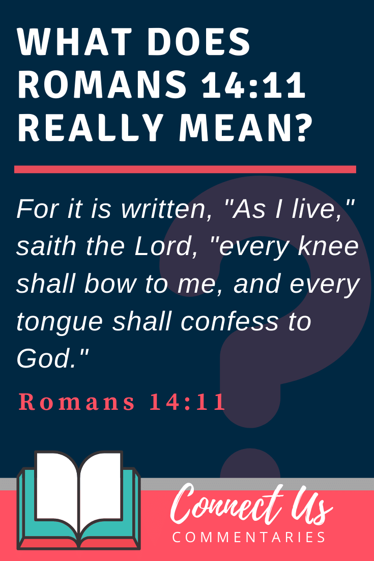 Romans 14:11 Meaning and Commentary