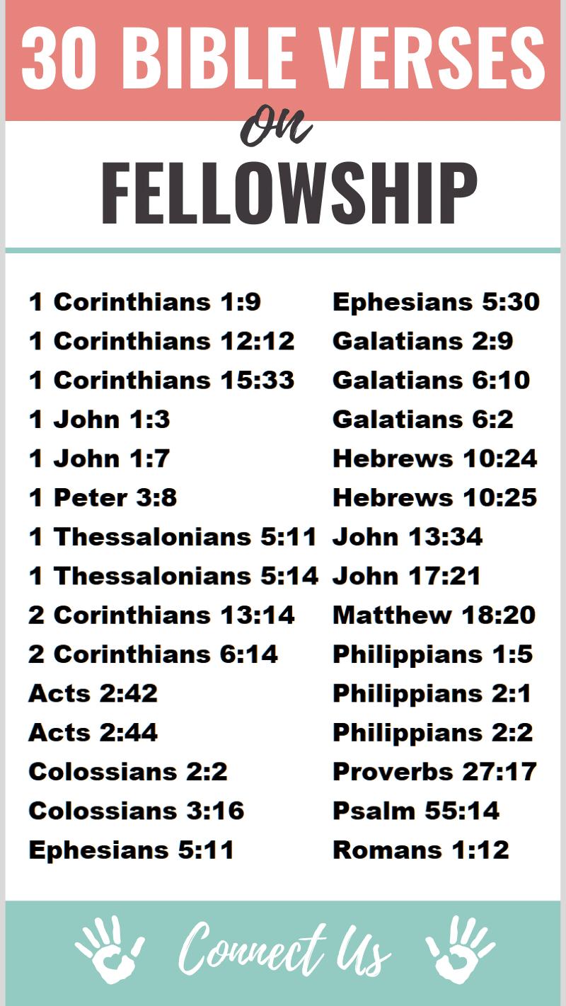 Bible Verses on Fellowship