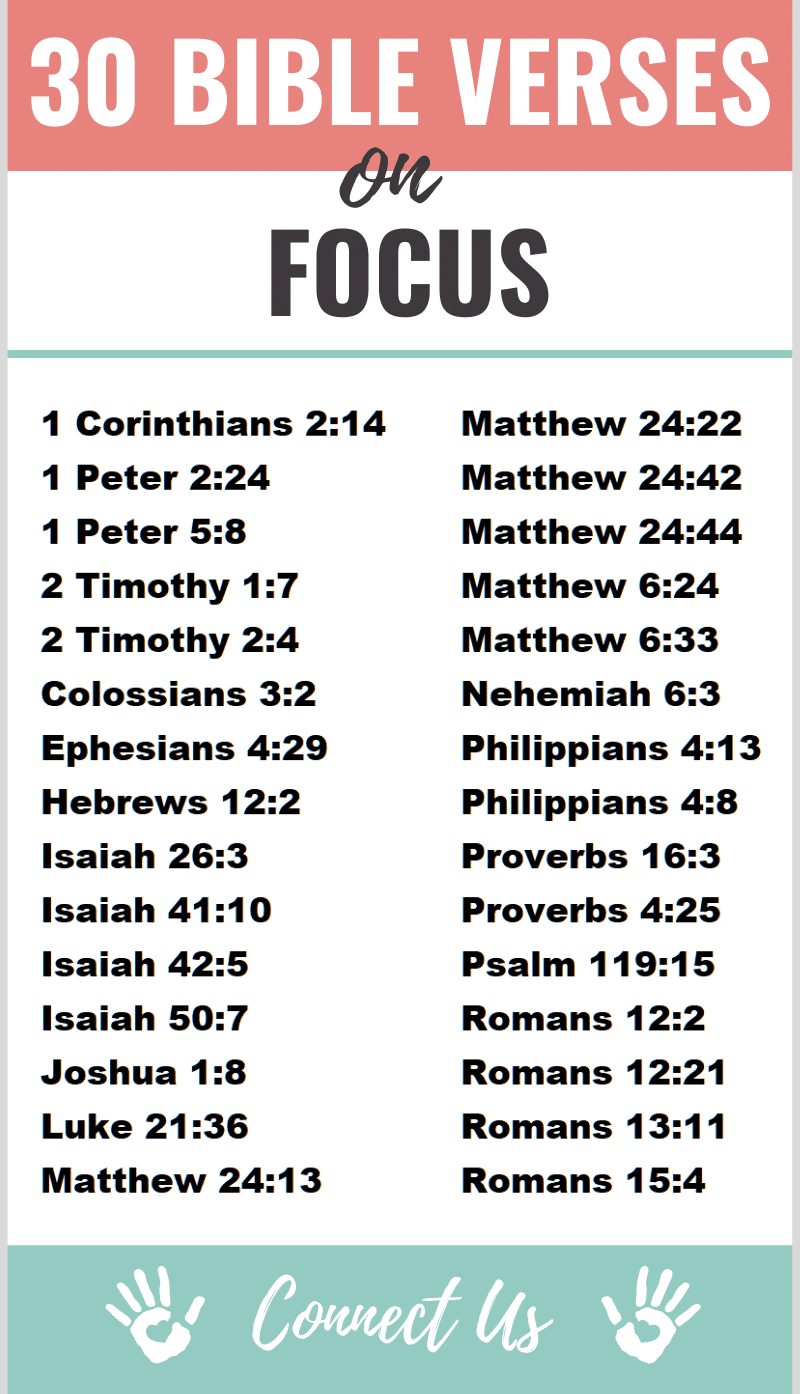 Bible Verses on Focus