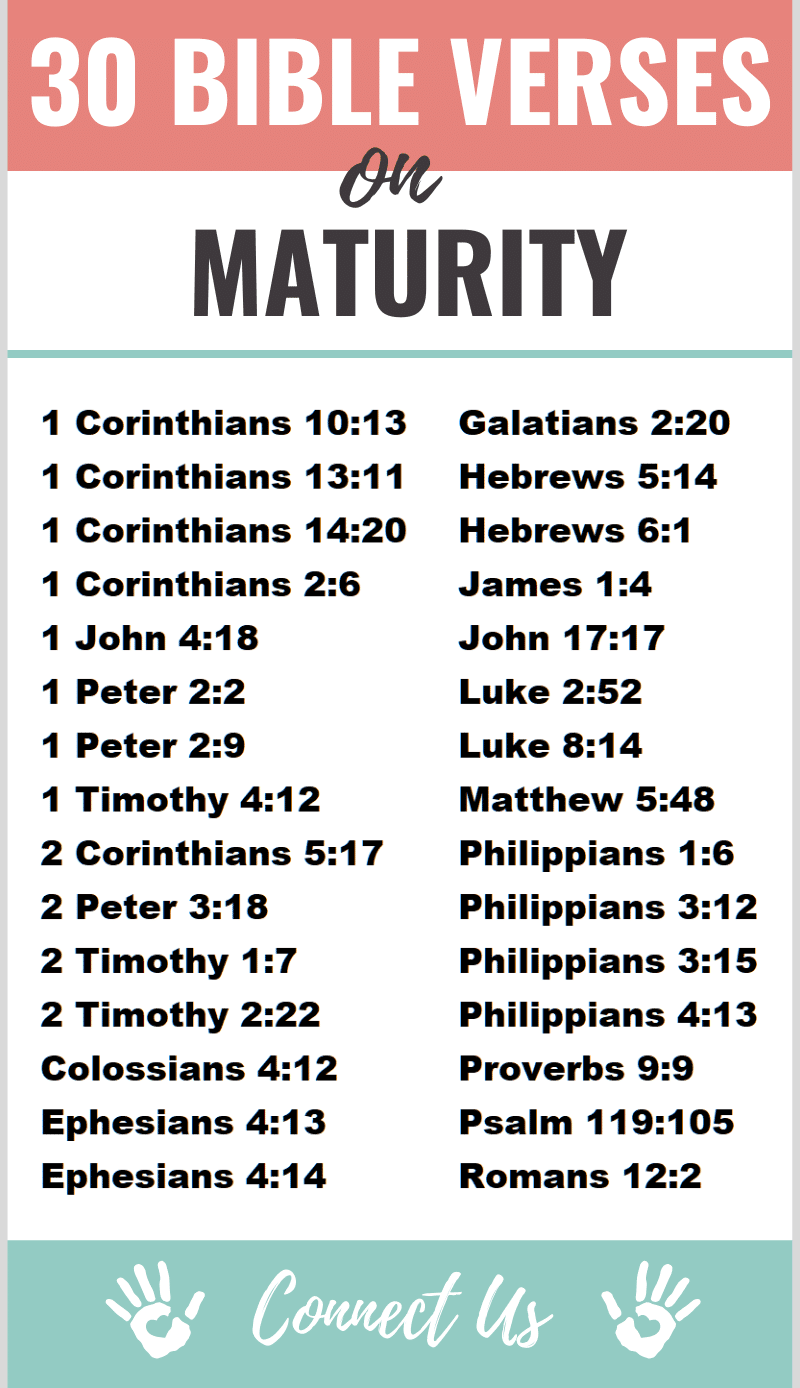 Bible Verses on Maturity