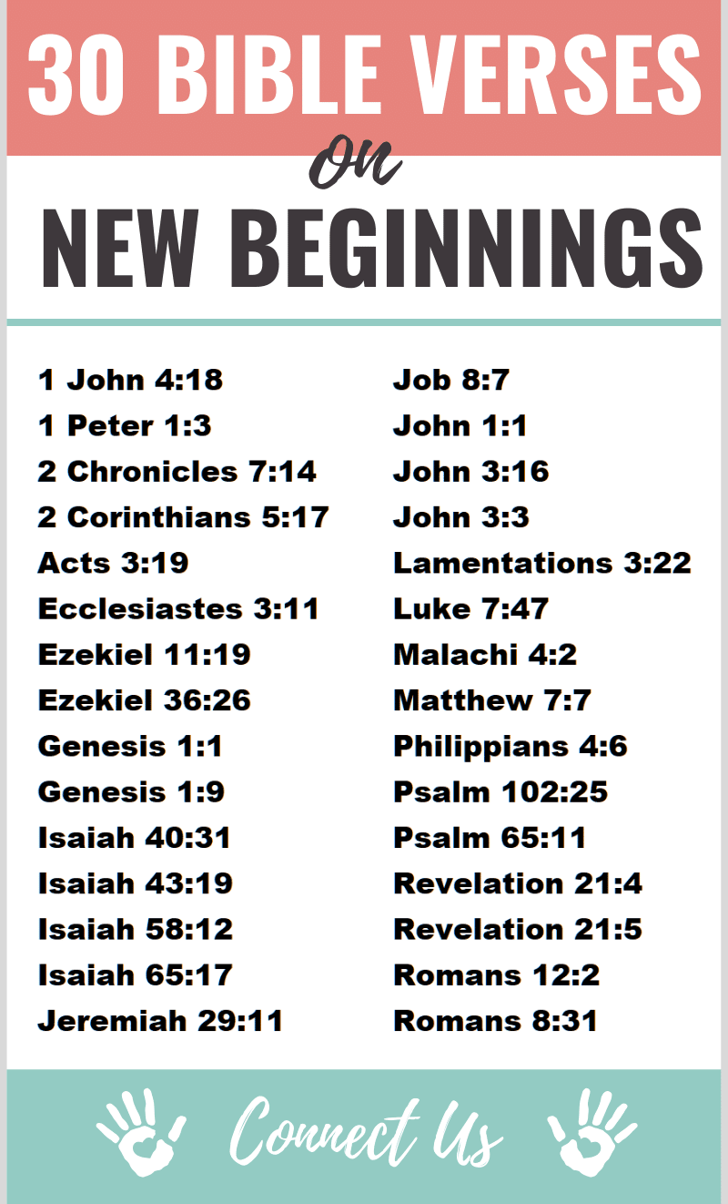 Bible Verses on New Beginnings