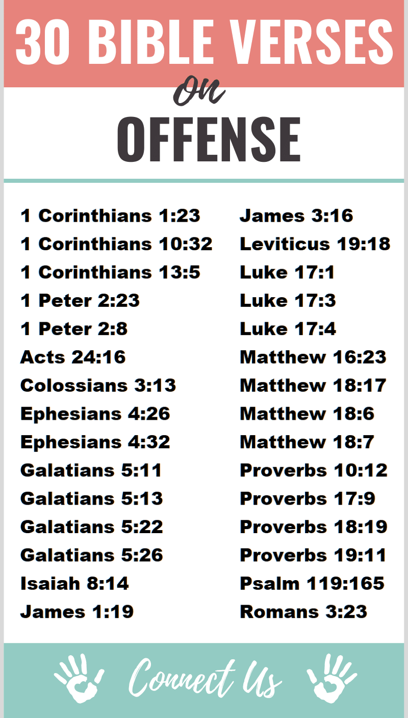 Bible Verses on Offense