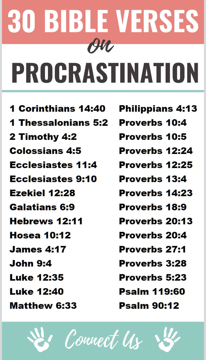 Bible Verses on Procrastination