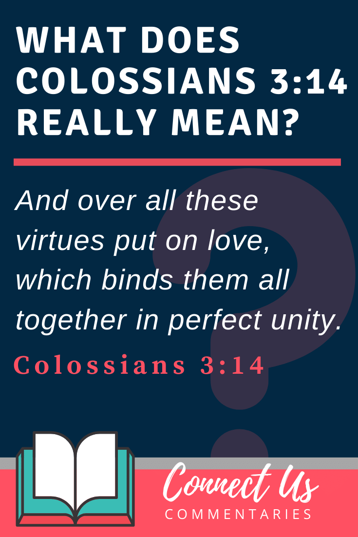 Colossians 3:14 Meaning and Commentary
