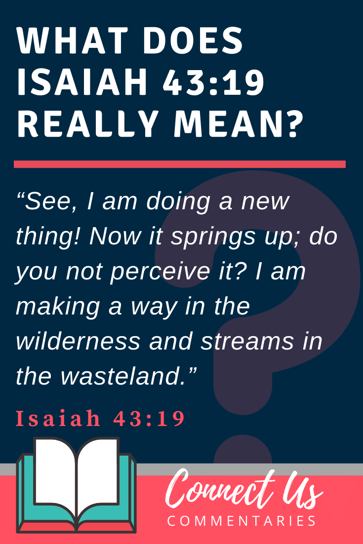 Isaiah 43:19 Meaning and Commentary