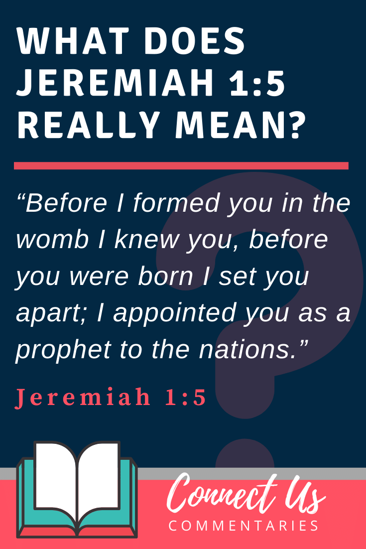 Jeremiah 1:5 Meaning and Commentary