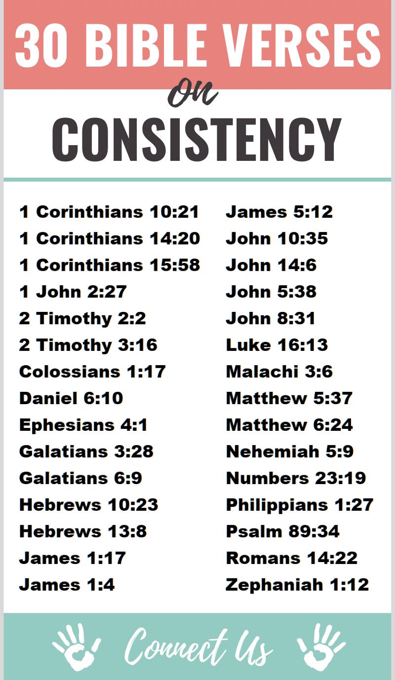 Bible Verses on Consistency