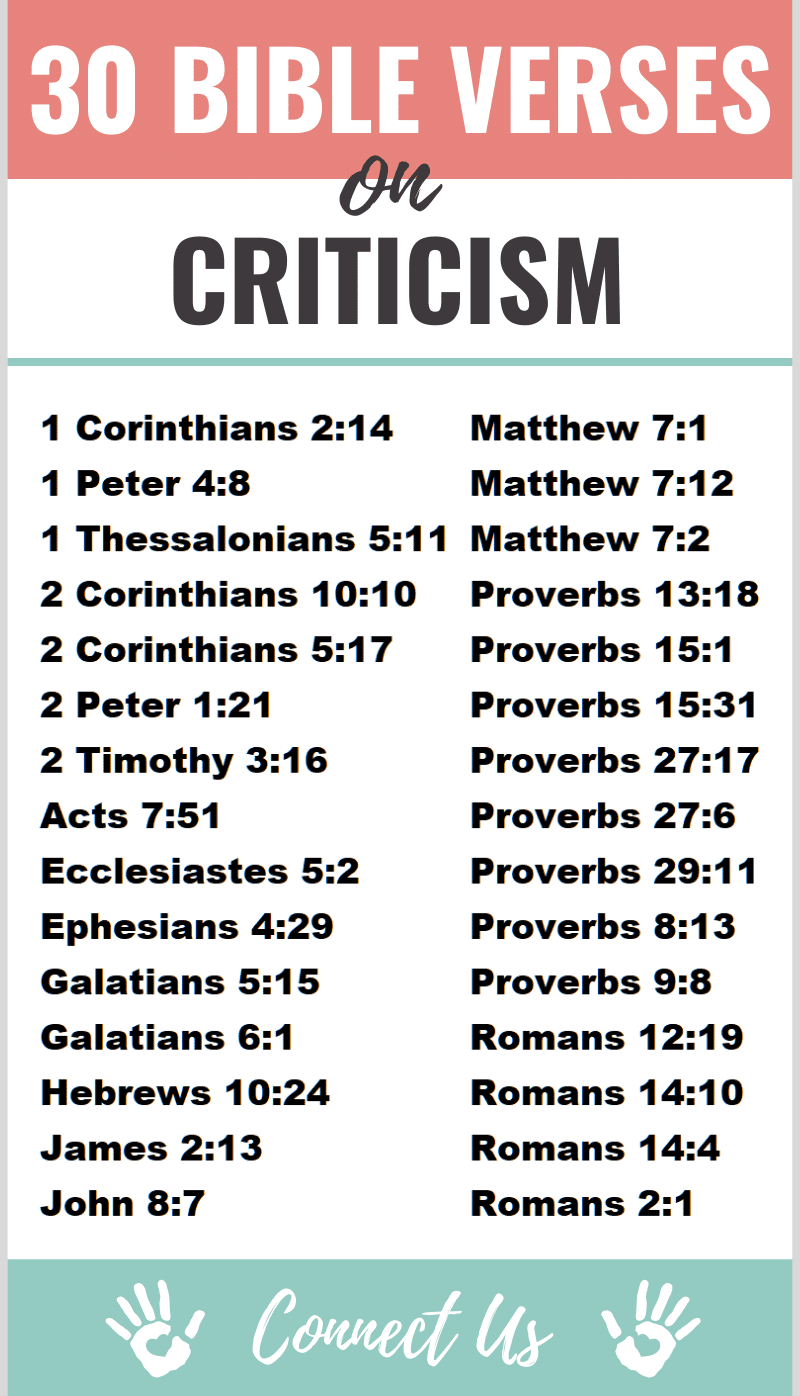 Bible Verses on Criticism