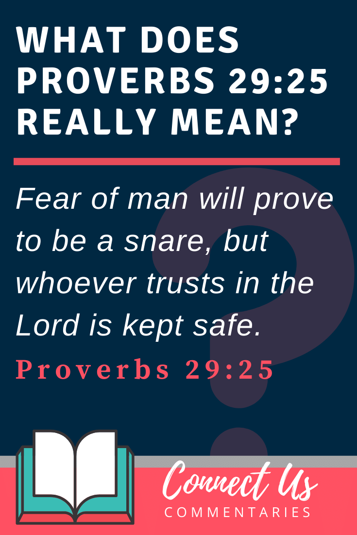 Proverbs 29:25 Meaning and Commentary